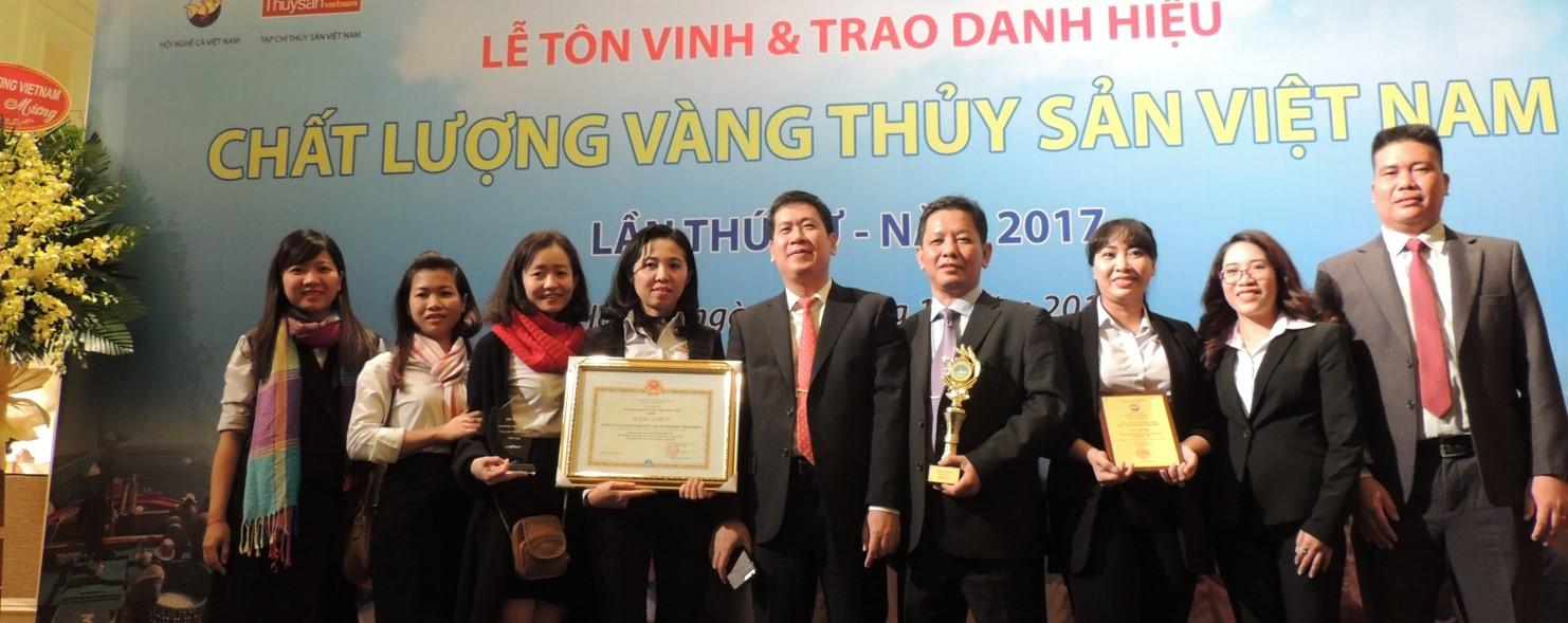 3 lần liên tiếp đạt Top 10 Chất lượng vàng Thủy Sản Việt Nam