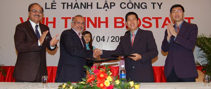 Liên doanh giữa Vinhthinh & tập đoàn Biostadt -Ấn Độ